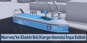 Norveç'te Elektrikli Kargo Gemisi İnşa Edildi