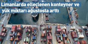 Limanlarda elleçlenen konteyner ve yük miktarı ağustosta arttı