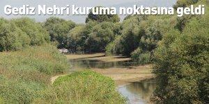 Gediz Nehri kuruma noktasına geldi