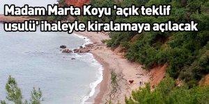 Madam Marta Koyu 'açık teklif usulü' ihaleyle kiralamaya açılacak