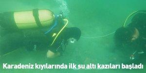 Karadeniz kıyılarında ilk su altı kazıları başladı