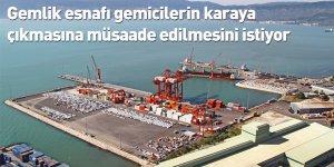 Bursa Gemlik esnafı gemicilerin karaya çıkmasına müsaade edilmesini istiyor