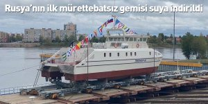 Rusya'nın ilk mürettebatsız gemisi suya indirildi