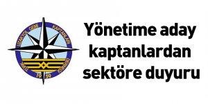 Yönetime aday kaptanlardan sektöre duyuru