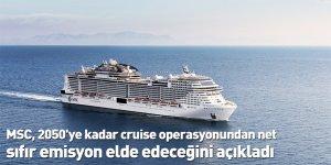MSC, 2050'ye kadar cruise operasyonundan net sıfır emisyon elde edeceğini açıkladı