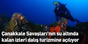 Çanakkale Savaşları'nın su altında kalan izleri dalış turizmine açılıyor