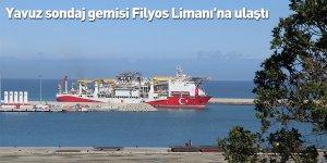 Yavuz sondaj gemisi Filyos Limanı'na ulaştı
