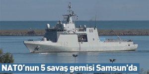 NATO'nun 5 savaş gemisi Samsun'da