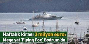 Haftalık kirası 3 milyon euro: Mega yat 'Flying Fox' Bodrum'da