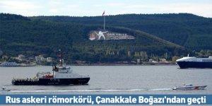Rus askeri römorkörü, Çanakkale Boğazı'ndan geçti