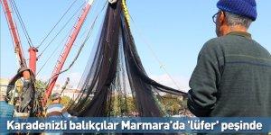 Karadenizli balıkçılar Marmara'da 'lüfer' peşinde