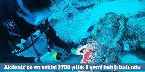 Akdeniz'de en eskisi 2700 yıllık 8 gemi batığı bulundu