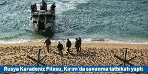 Rusya Karadeniz Filosu, Kırım'da savunma tatbikatı yaptı