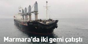 Marmara'da iki gemi çatıştı