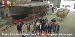 Denizcilik Lisesi öğrencileri 15 metre boyunda tekne yaptı