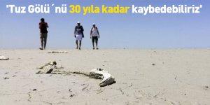 'Tuz Gölü´nü 30 yıla kadar kaybedebiliriz'