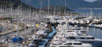 Marmaris yat limanı Boat Show'u aratmıyor
