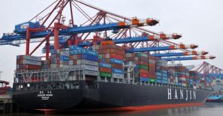 Hanjin Shipping Falls as Credit Rating Cut One Level to BB+