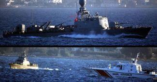 Türk sularında Yunan Sahil Güvenlik botu gerginlği
