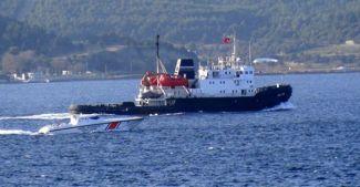 Rus römorkörüne Sahil Güvenlik'ten yakın markaj