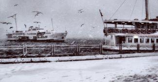 Şehir Hatları'na kar ve tipi engeli