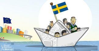 İsveç'teki sığınmacılar gemide kalacak