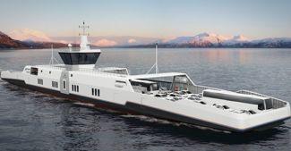 Zero-emission ferry concept