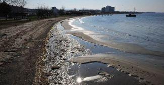 Çanakkale Boğazı'nda deniz suyu 15 metre çekildi