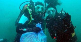 Bodrum'da denizden 3 ton çöp çıktı