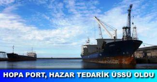 Hopa Port, 2016'nın ilk proje gemisi M/V Amber'i ağırladı