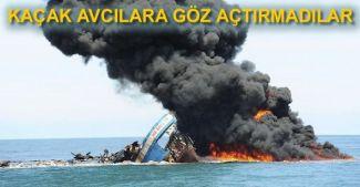 Endonezya'da kaçak avcıların tekneleri imha edildi