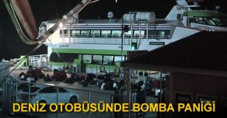 BUDO'ya ait deniz otobüsünde bomba şüphesi