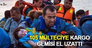 Mültecilerin yardımına kargo gemisi yetişti