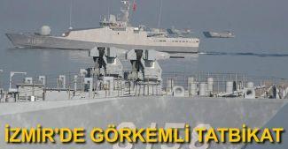 İzmir Körfezi'nde görkemli tatbikat