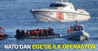 NATO'dan Ege Denizi'nde ilk operasyon
