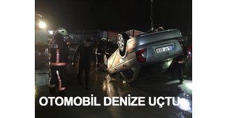 Tuzla'da otomobil denize düştü