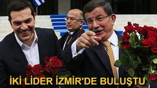 Türk ve Yunan Başbakanları İzmir'de buluştu