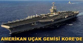 Amerikan uçak gemisi Güney Kore'ye demirledi