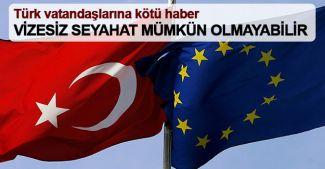Frans Timmermans: Türkiye için vizesiz seyahat mümkün olmayabilir