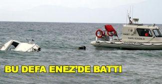 Edirne'de mültecileri taşıyan tekne battı