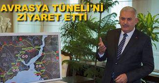 Binali Yıldırım, Avrasya Tüneli'ni ziyaret etti