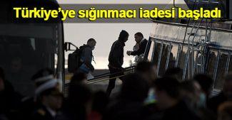 Türkiye'ye Yunanistan'dan sığınmacı iadesi başladı