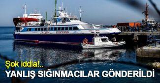 Sığınmacılardan 13'ü Türkiye'ye yanlışlıkla gönderildi