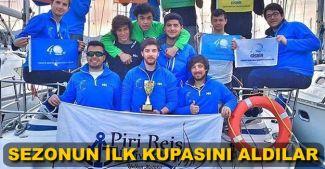 Pîrî Reis Üniversitesi Yelken Kulübü sezona kupayla giriş yaptı