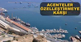 KKTC'li gemi acentaları, limanların özelleştirilmesine karşı