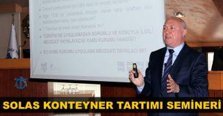 SOLAS Konteyner Tartımı Semineri düzenlendi