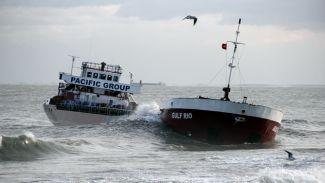 Samsun'da batan gemi Mavi Bayrak'tan etti