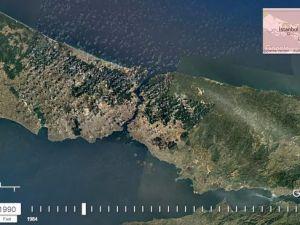 32 Yıllık Uydu Görüntüsüyle İstanbul